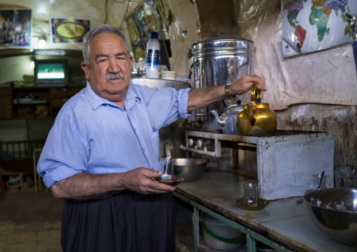 Man Making Tea, Koya, Kurdistan, Iraq