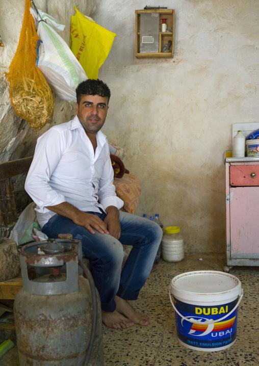 Yazidi Man In The Temple City Of Lalesh, Kurdistan, Iraq