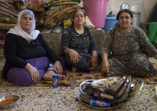 Yazidi Women In The Temple City Of Lalesh, Kurdistan, Iraq