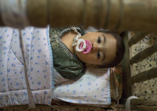 Yazidi Baby In The Temple City Of Lalesh, Kurdistan, Iraq