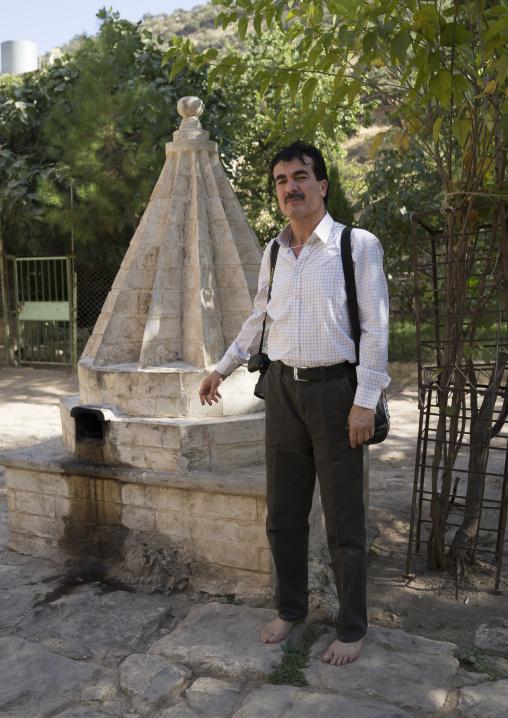 Yazidi Prince In The Temple City Of Lalesh, Kurdistan, Iraq