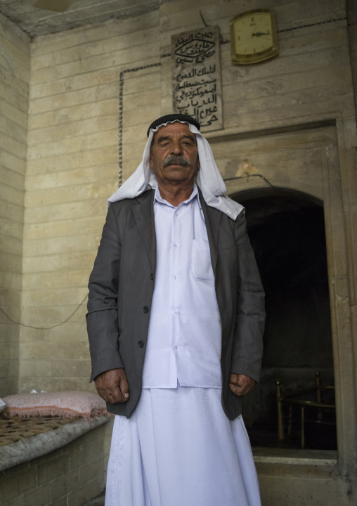Yazidi Man Inside The Temple City Of Lalesh, Kurdistan, Iraq