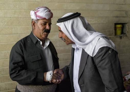 Yazidi Men Inside The Temple City Of Lalesh, Kurdistan, Iraq