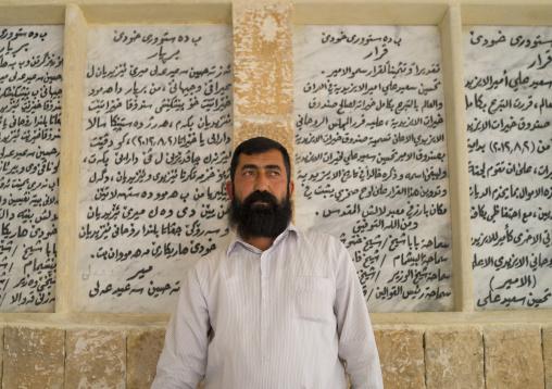 Yazidi Priest Inside The Temple City Of Lalesh, Kurdistan, Iraq