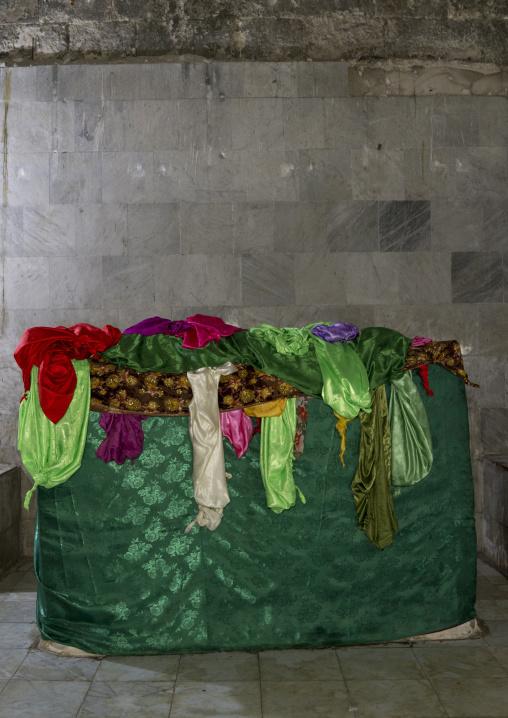 Yazidi Grave Inside The Temple City Of Lalesh, Kurdistan, Iraq