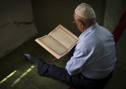 Old Man Reading Koran In The Mosque, Amedi, Kurdistan Iraq