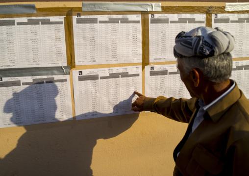 Man Searching His Name On Elections Site, Akre, Kurdistan, Iraq
