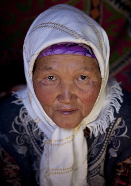 Old Veiled Woman, Kyzart River, Kyrgyzstan