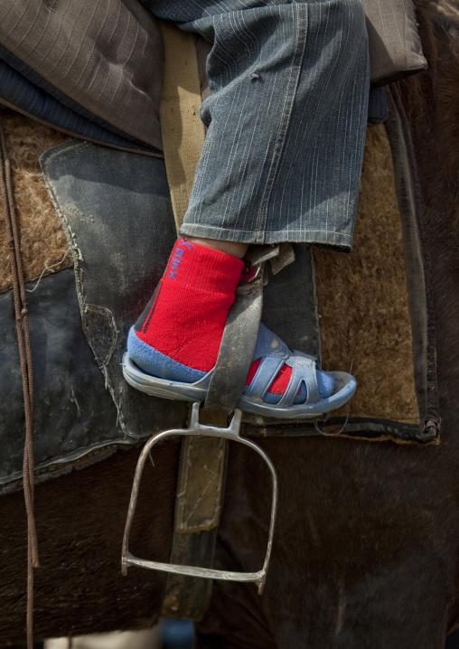 Foot And Stirrup, Saralasaz Jailoo, Kyrgyzstan