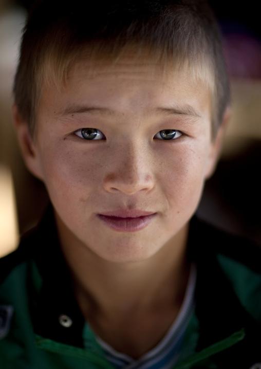 Young Boy Looking At Camera, Kochkor, Kyrgyzstan