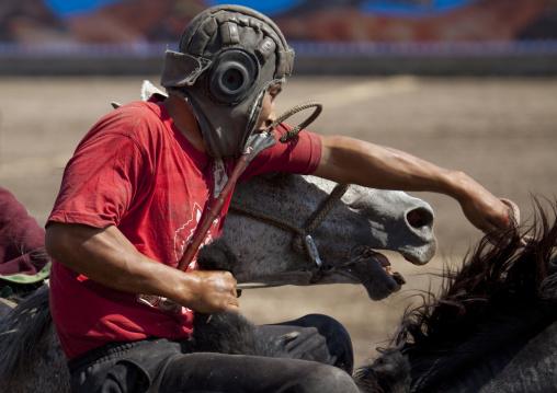 Horseman During A Horse Game On National Day, Bishkek, Kyrgyzstan