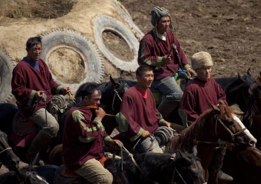 Horsemen After The Horse Game On National Day, Bishkek, Kyrgyzstan
