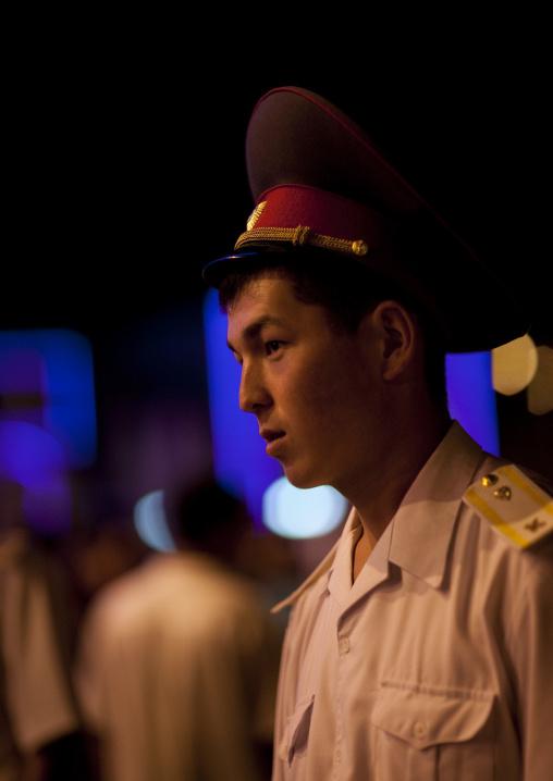 Policeman In Uniform, Bishkek, Kyrgyzstan