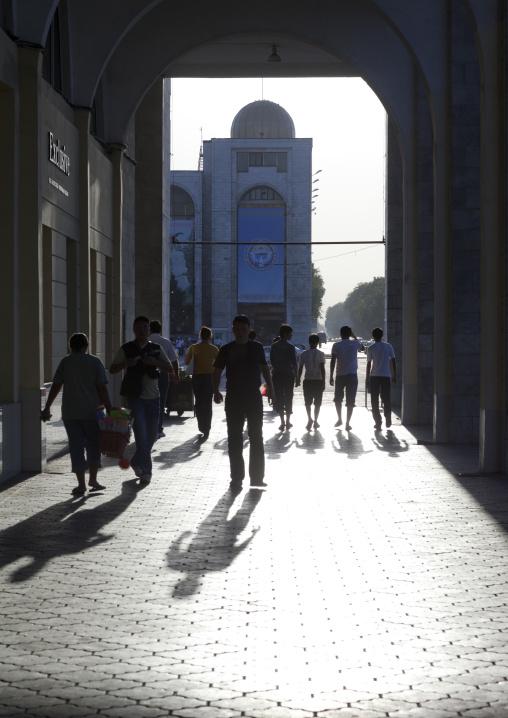 People Walking In The Streets Of Bishkek, Kyrgyzstan
