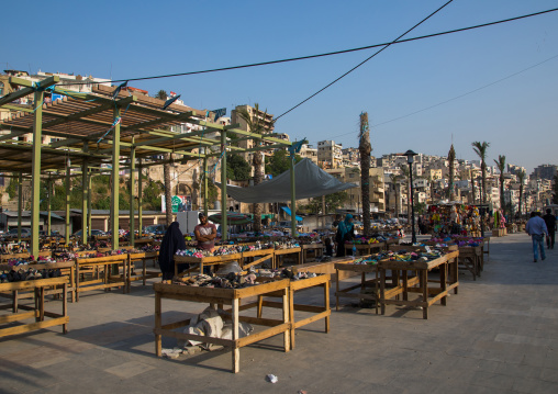 Open air market selling shoes, North Governorate, Tripoli, Lebanon