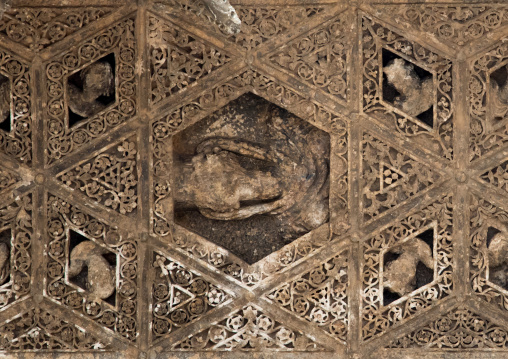 The detailed ceiling of the temple of Bacchus, Beqaa Governorate, Baalbek, Lebanon
