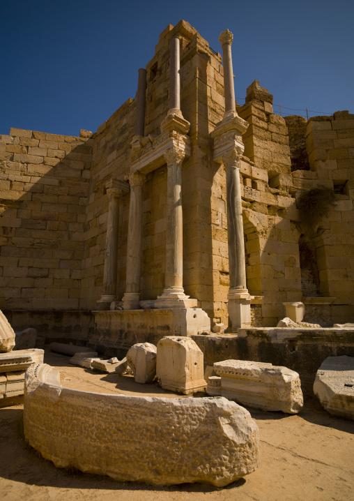 Antique ruins of leptis magna, Tripolitania, Khoms, Libya