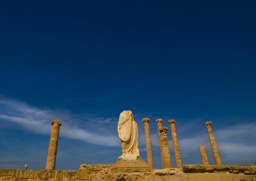 Flavius tuilus statue, Tripolitania, Sabratha, Libya