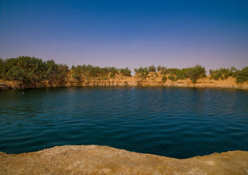 Lake in the desert, Tripolitania, Ghadames, Libya