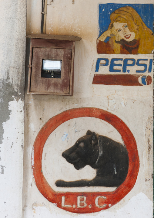 Advertisement on a wall, Pakse, Laos