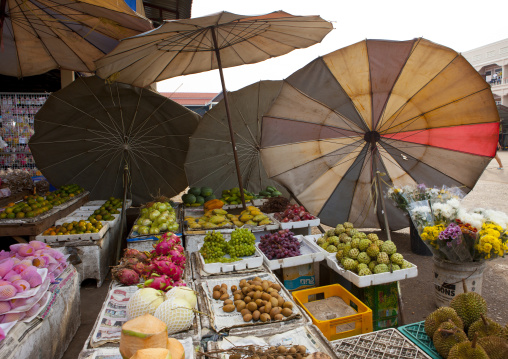 Fruits in a market, Pakse, Laos