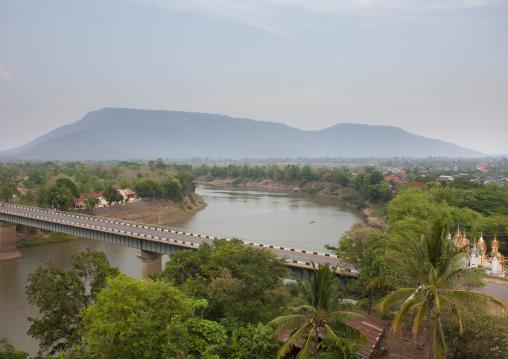 Bridge over mekong river, Pakse, Laos