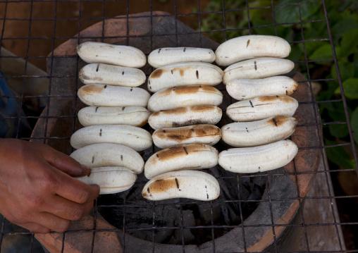 Grilled bananas, Boloven, Laos