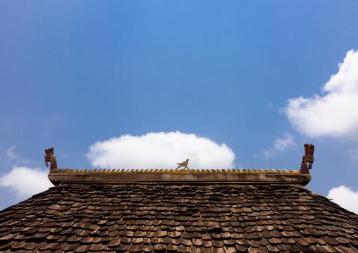 Alak common house roof, Boloven, Laos