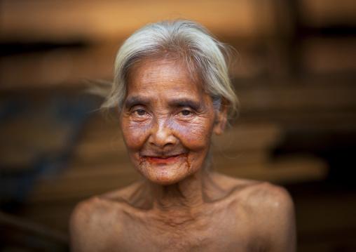 Alak tribe old woman, Boloven, Laos