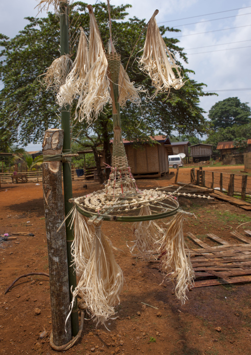 Alak tribe statue for wedding, Boloven, Laos