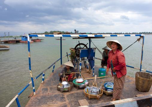 Ferry on mekong river, Phonsaad, Laos