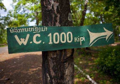 Toilets sign, Don khong island, Laos