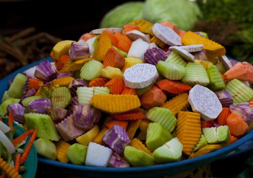 Vegetables in a market, Pakse, Laos