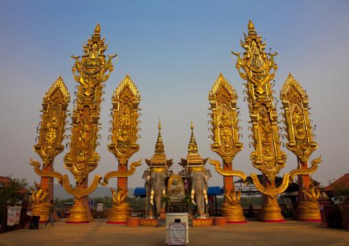 Buddhist decorations, Houei xay, Laos