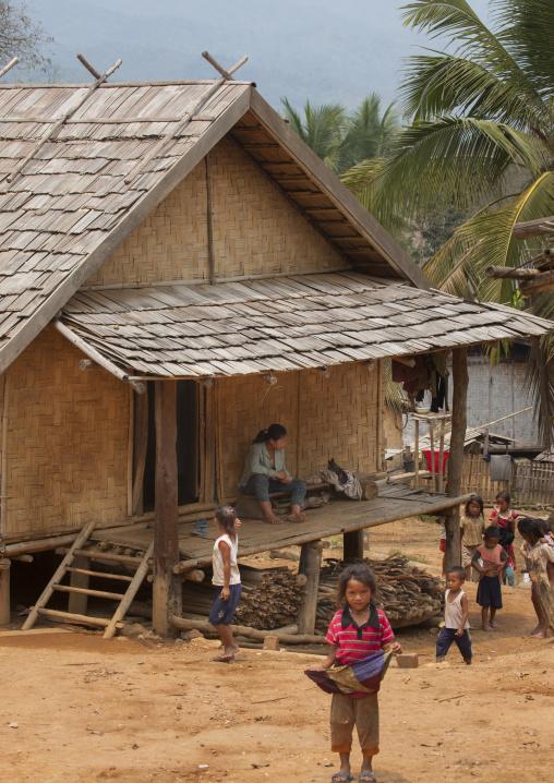 Khmu minority village, Xieng khouang, Laos