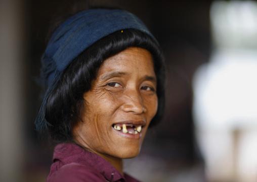 Khmu minority woman, Xieng khouang, Laos