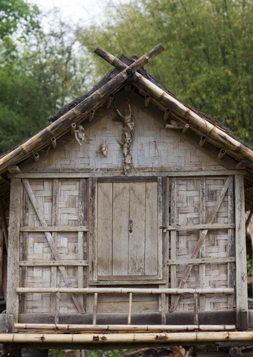 Khmu minority house, Xieng khouang, Laos