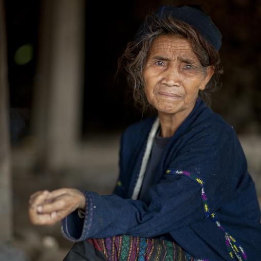 Khmu minority old woman, Xieng khouang, Laos