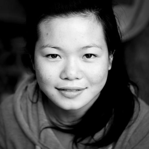 Thai kaho minority woman, Ban sam kang, Laos