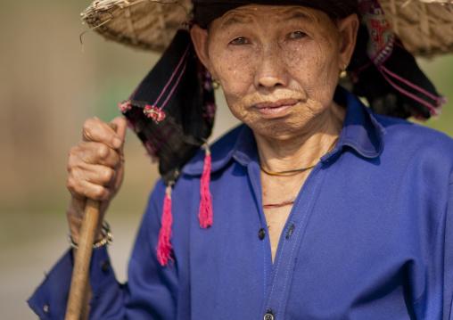 Old woman, Luang namtha, Laos