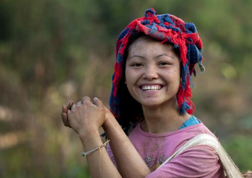 Smiling khmu girl, Luang namtha, Laos