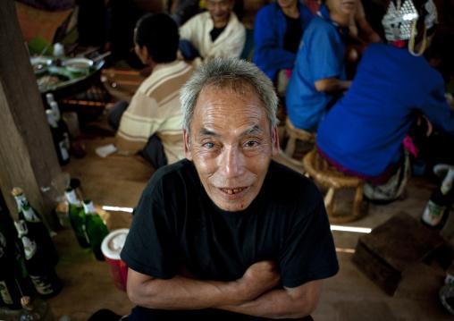 Akha minority man, Ban ta mi, Laos