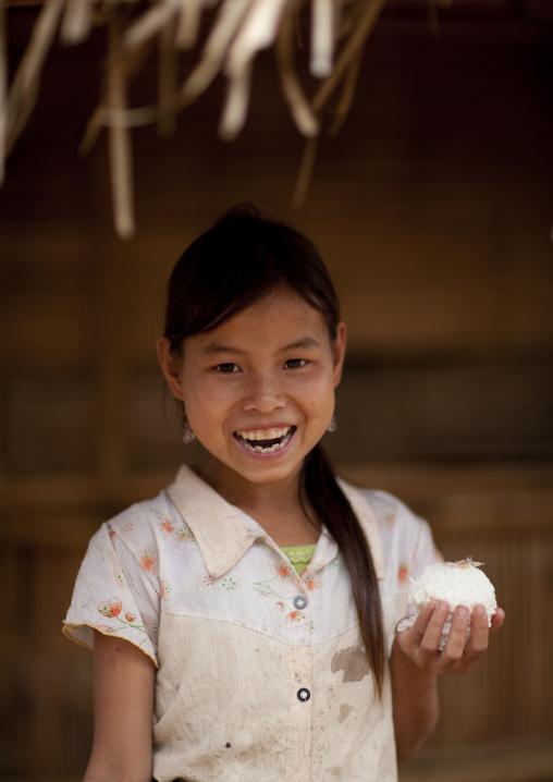 Hmong minority girl, Muang sing, Laos