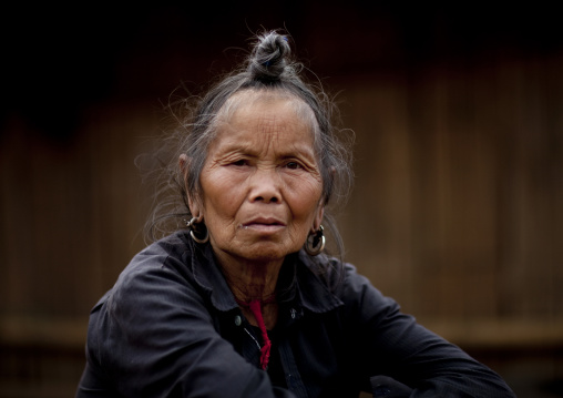 Hmong minority old woman, Muang sing, Laos