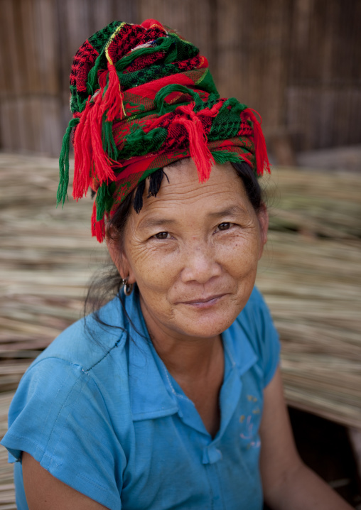 Hmong minority woman, Muang sing, Laos
