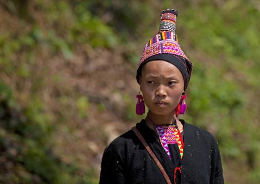 Akha pala minority woman, Muang sing, Laos
