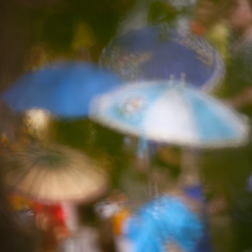 Umbrellas during lao new year celebration, Luang prabang, Laos