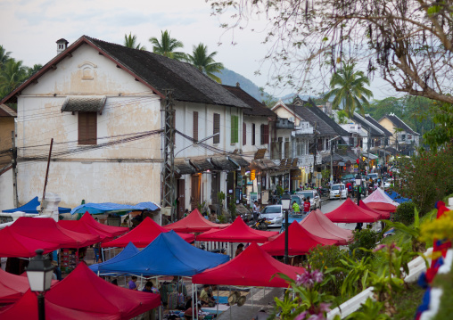 Market street, Luang prabang, Laos