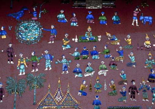Decorations in temple vat xieng thong, Luang prabang, Laos