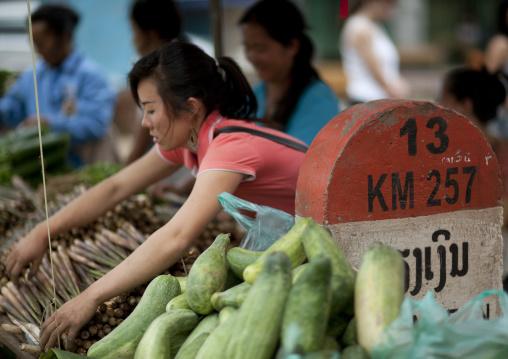 Hmong minority market, Luang prabang, Laos